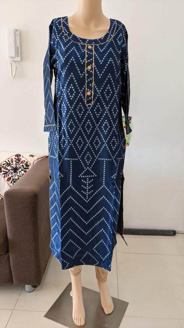 Gaji Silk Kurti - Size 40