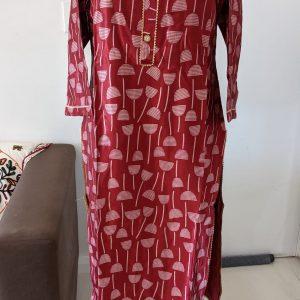 Gaji Silk Kurti – Size 42