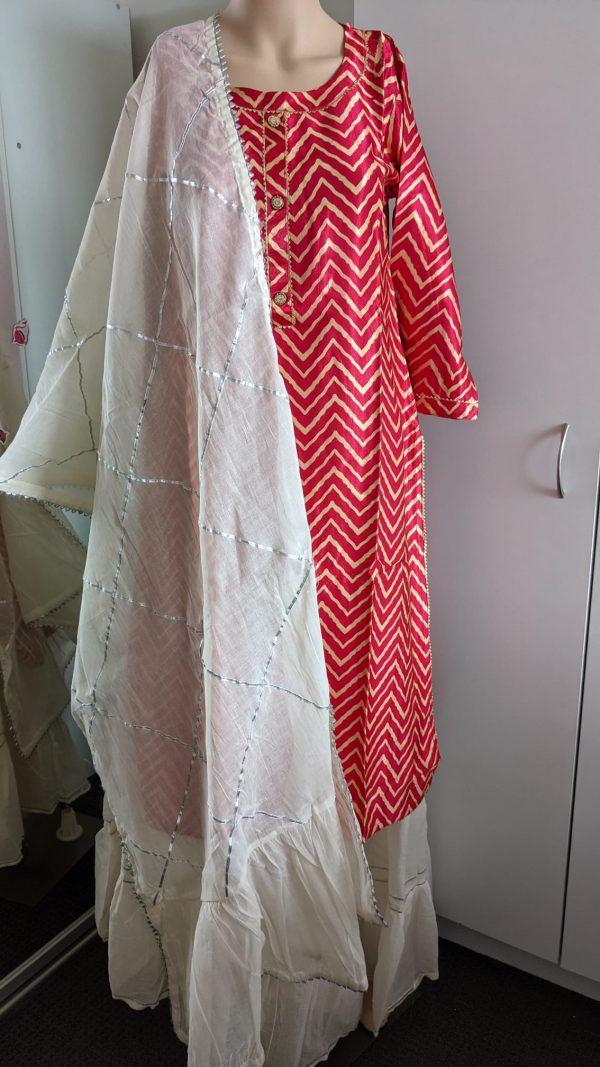 Buy Gaji Silk Sharara Suit Onliine - Australia - Size 38 to 44